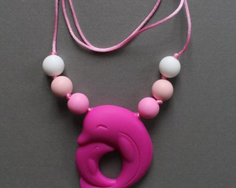 SOPHIA - Necklace mother Dolphin teeth chew by baby TOUPIDOU silicone