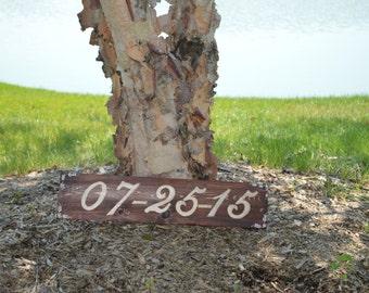 Custom Wedding Date Sign