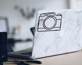 Camera Decal Camera sticker Laptop or Car Decal Instagram Handdrawn Sketcy Photography Art  • Personalized Vinyl Art • Fuzzyshark Studio