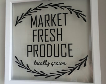 Market Fresh Produce sign