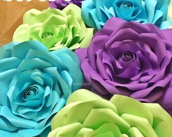 Set of 3 Medium Paper flowers