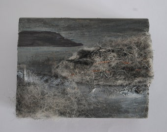 Coastal Landscape wood block
