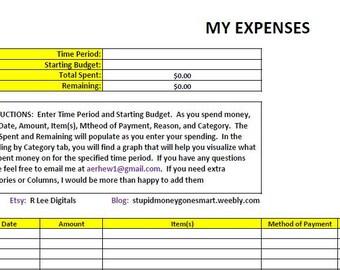 Expense Tracker (.XLS)