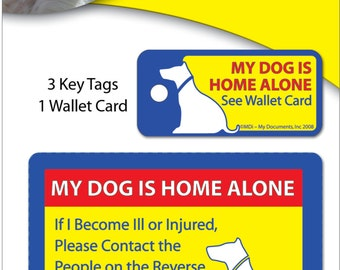 Protect My Pet Dog Wallet Card and Key Tags