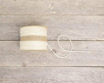 Ivory Jute Twine / Rustic Wedding Twine / Ivory String - 100 yards