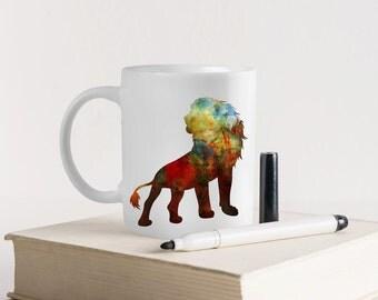 Unique Coffee Mug-Lion king Mug-Personalized Mug-Funny Mug-Art Mug-Personalized gift-Gift for kid's-Watercolor mug- Gift mug -HuppyMugs
