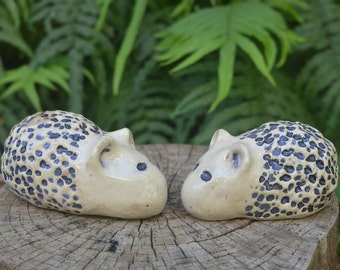 Ceramic hedgehogs. Pair of ceramic porcupines. Ceramic animals. Ceramic sculpture. Animal figures. Garden decor. Handmade figurine. Statue.