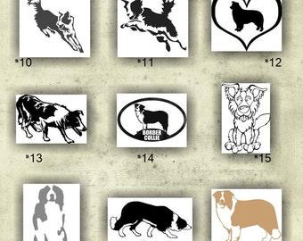 BORDER COLLIE vinyl decals - 10-18 - custom car window stickers - car decal - personalized vinyl sticker