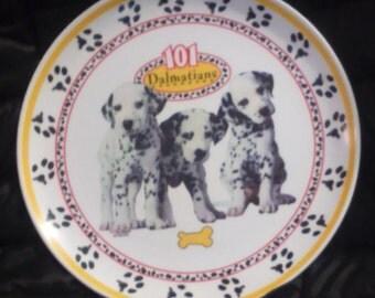 "Vintage 1996 101 DALMATIONS Disney Movie 8"" Plate! HTF!"