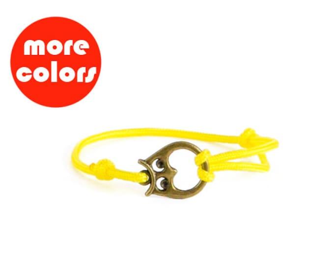 Unisex Bracelet, Men Bracelet, Everyday Bracelet, Friendship Jewelry, Owl Bangle