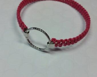 Pink Bangle Braided Bracelet