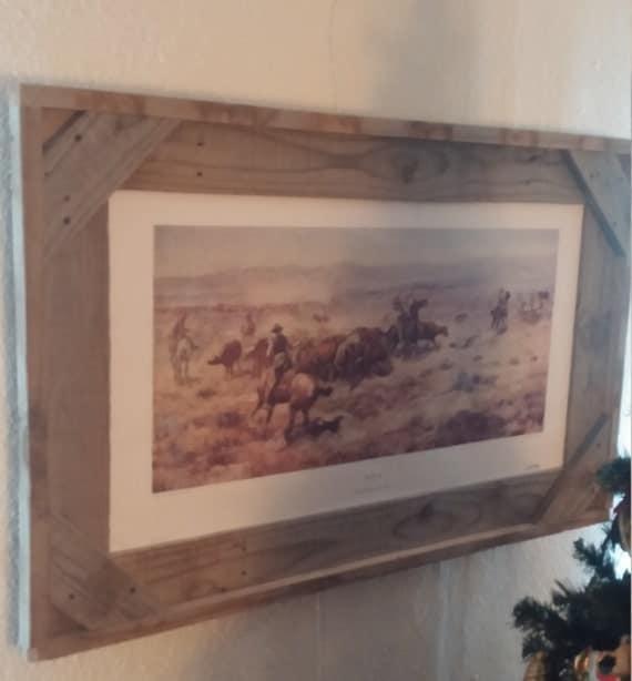 24 x 36 rustic wood picture frame. Black Bedroom Furniture Sets. Home Design Ideas