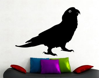 Parrot Wall Decal Bird Stickers Animal Decorations Home Living Room Bedroom Kids Room Decor Vinyl Wall Art Removable Sticker 3epai