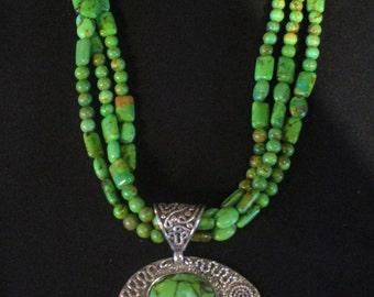Green Bear necklace