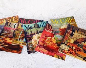 6 McCalls Cookbooks, Vintage Cookbooks, 1980s, Kitsch photos graphics, Retro Cook Books, McCalls Cookbook Collection,Kitsch Kitchen Decor