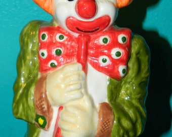 Colorful {Hand~Made} Clown, Would make a Great addition to your Clown Collection, Or Brighten any Room Decor.