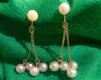 Signed Sarah Coventry Pearl Earrings