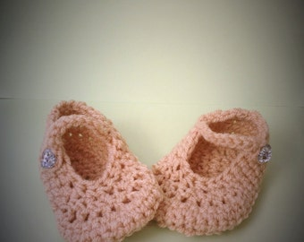 Crochet Baby Dolly Shoes