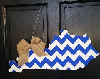 Chevron Kentucky Door Hanger