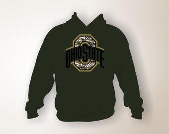 Ohio State Buckeyes Camo Hoodie, Ohio State, Buckeyes, Camo, Ohio State Hoodie, Buckeyes Hoodie, Camo Hoodie, Camo Shirt, Buckeyes Shirt