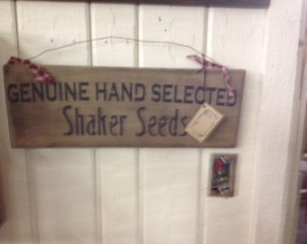 Shaker Seed Sign