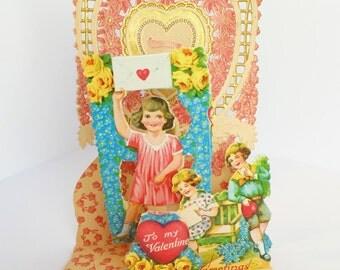 1920s Valentine, 3D Fold-up