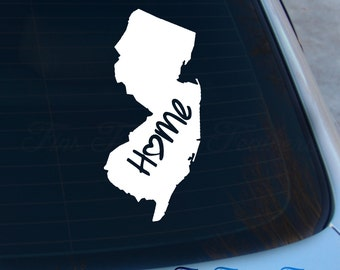 New Jersey Decal - State Decal - Home Decal - NJ Sticker - Love - Laptop - Macbook - Car Decal