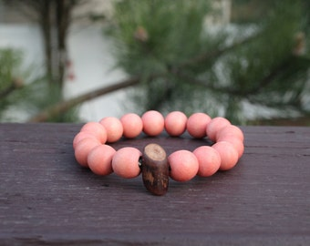 "Round 12mm ""Lt. Orange"" Bracelet"