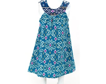 Girl Batik Dress / Girl Ikat Dress / Girls Dress / Baby Girl Dress / Summer Dress / Bali Dress / Blue Dress / Toddler Dress / Ready to ship