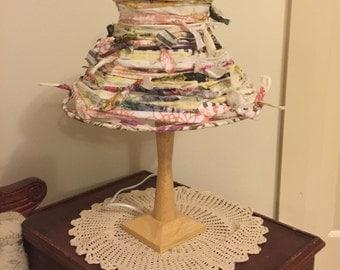Handmade Hardened Fabric Lampshade