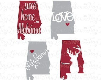 Alabama Sweet Life Design for Silhouette and other craft cutters (.svg/.dxf/.eps/.pdf/.png)