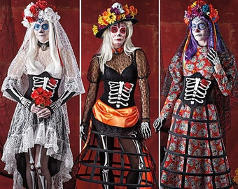 Simplicity Pattern 1033, Simplicity Pattern 0236, Day for the Dead Costumes, Cosplay