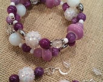 Bits & Baubles Pink 'n Purple Bracelet set