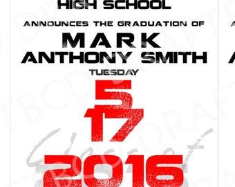 Graduation Announcement 5x7