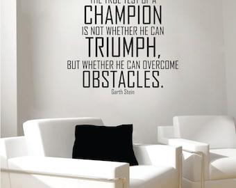 Champion wall decal, Champions wall decal, champion quote decal, champion quote wall decal,vinyl wall decal,vinyl wall quote decal,champions