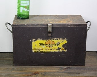 Vintage Cooler/Insulated Picnic Cooler/Woodland