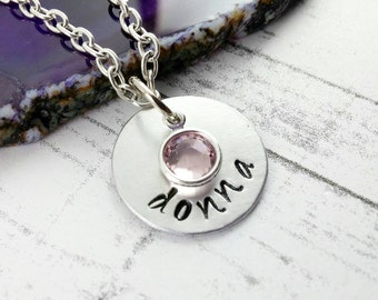 Custom Name Necklace~ Personalized Jewelry~ Bridesmaid Gift~ Mothers Necklace~ Mommy Jewelry~ Mothers Day Gift