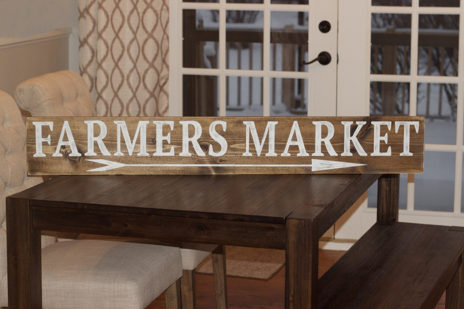 Farmers Market Sign Kitchen Sign Wooden Farmers Market Sign