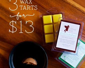 Tart Sampler: Choose Any 3 Soy Wax Melts by Wilfred Wax