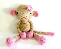 Monkey, READY TO SHIP, Crochet Monkey, Soft Monkey,  Toy Monkey, Monkey