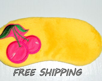 eye mask, sleep mask, travel sleep mask cherry