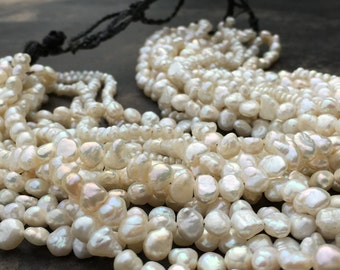 Multi strand necklace of freshwater pearls.  Great gushing fountain of pearls!!!