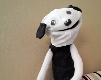 White and Black Dog Puppet