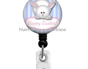 Retractable Badge Holder, Easter Bunny, Happy Easter, Retractable Badge Reel, Badge ID Holder, Nurse Badge Reel, Teacher Badge Reel