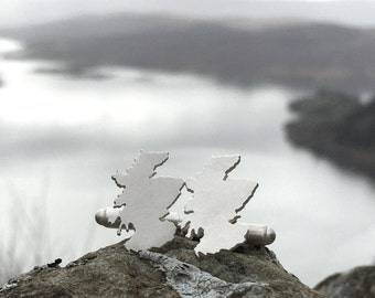 Handmade Silver Scotland Cufflinks