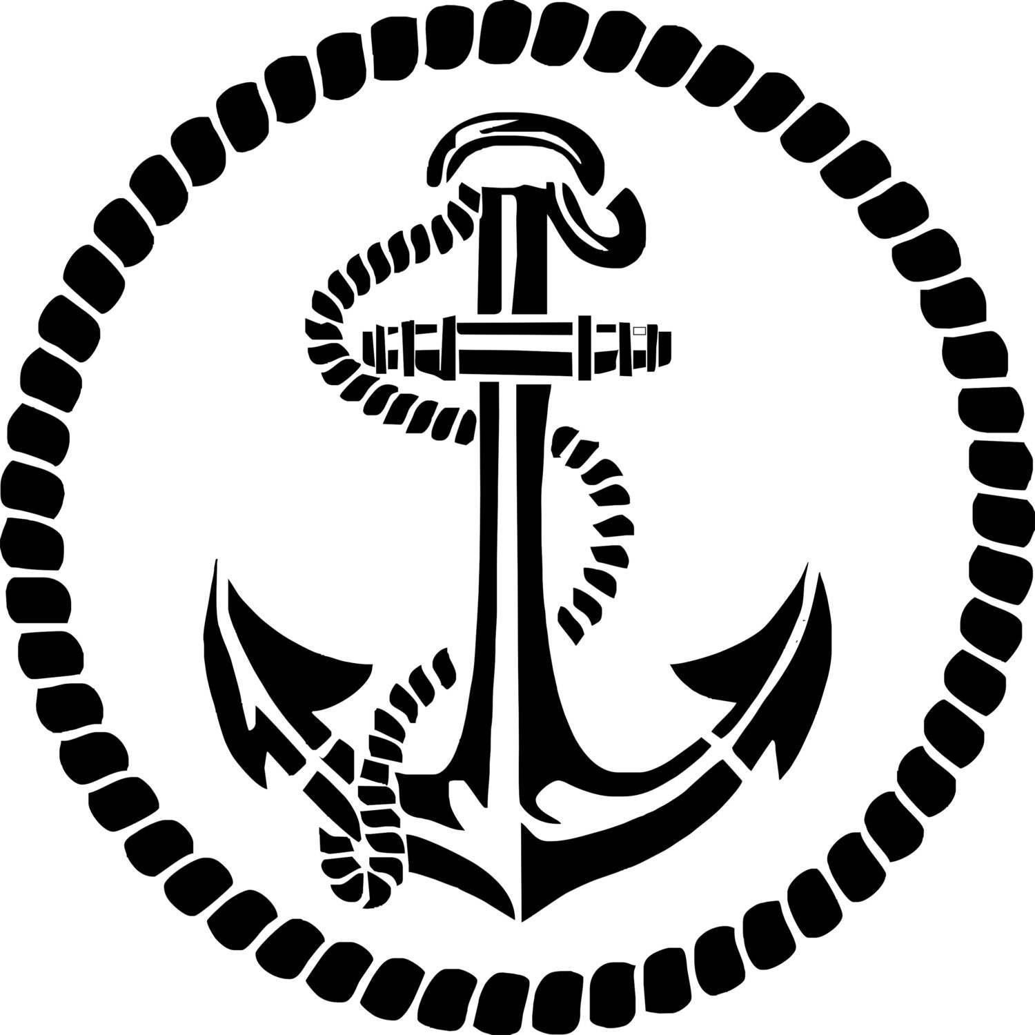 Stencil Stencil Quot Marine Anchor Quot Deco Marine With His Rope