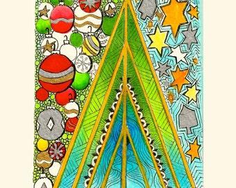 Hanukkristmas Greeting Card - Folded