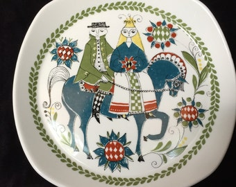 Norwegian Wedding Plate