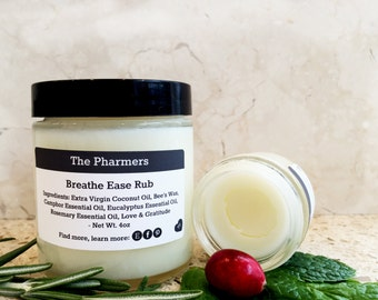 All Natural Breathe Easy Rub, Cold Remedy Skin Balm