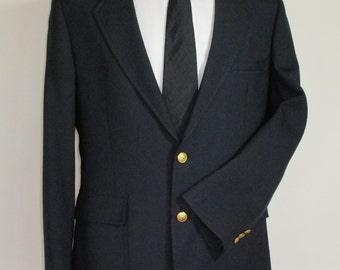 Frederick & Nelson Blazer Sport Jacket/Classic Men's Navy Blue Vintage Summer Blazer Sport Jacket/Size?